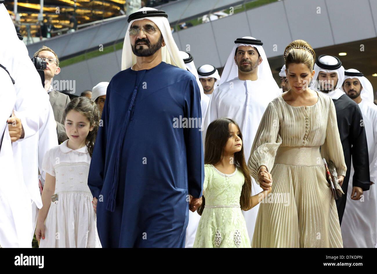 Sheikh Mohammed bin Rashid Al Maktoum (left) and his wife Princess