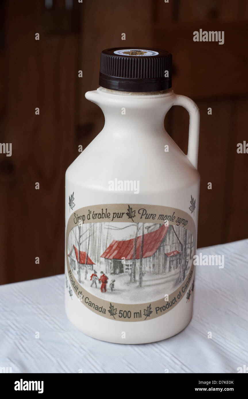 Maple syrup from Quebec Canada - Stock Image