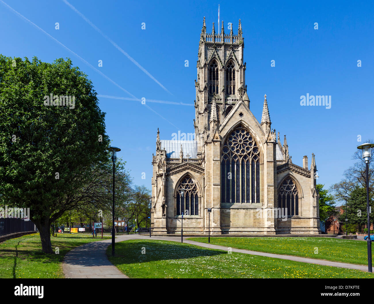 St George's Minster, Doncaster, South Yorkshire, England, UK - Stock Image