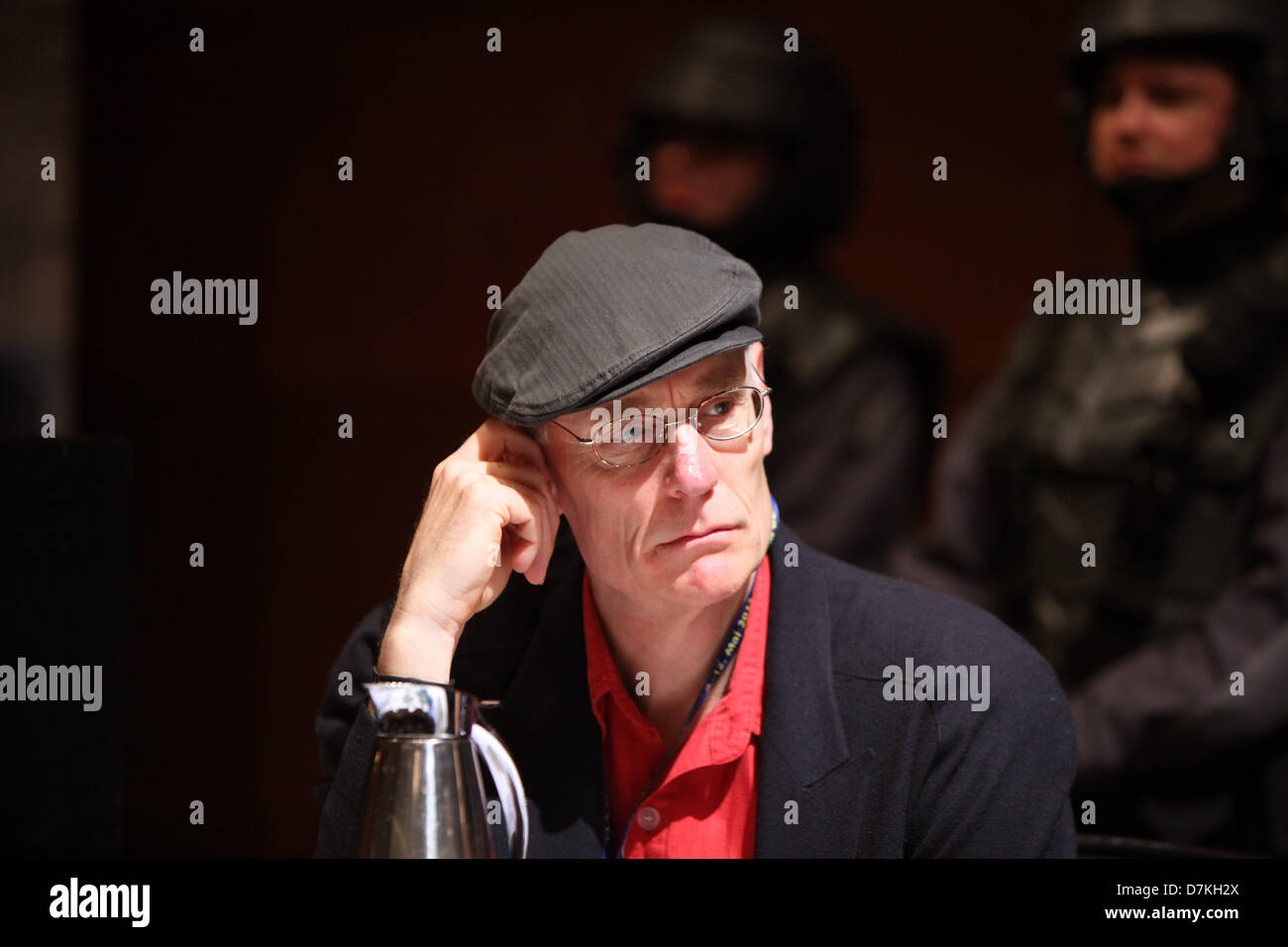 Duesseldorf, Germany, 09 May 2013. Actor Matt Frewer (Mentors, PSI-Factor) takes part in a press conference at Fedcon - Stock Image