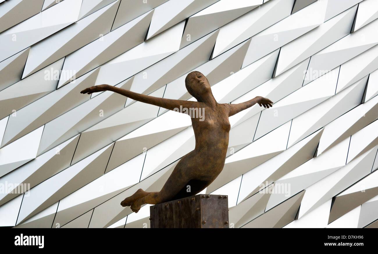 Titanica Sculpture at the Titanic Belfast Building - Stock Image