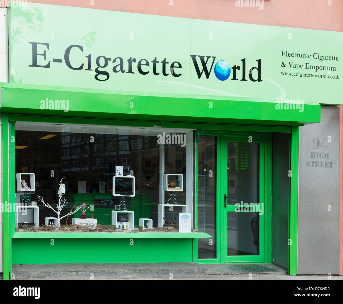 E-Cigarette World in Belfast - Stock Image