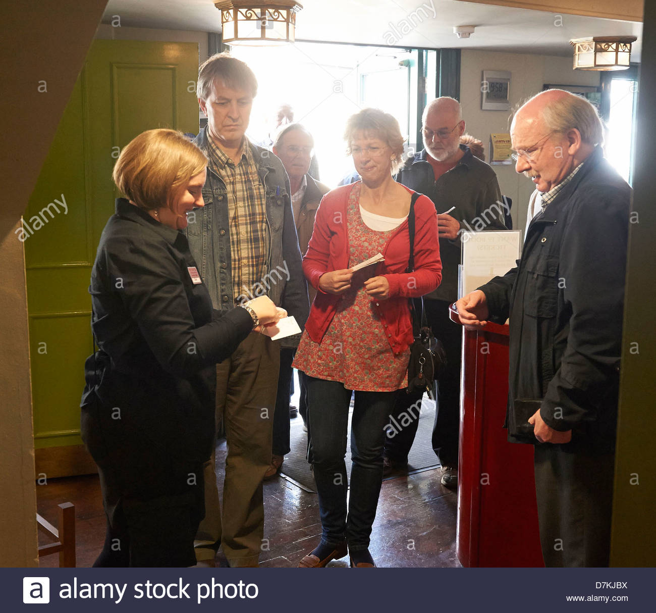 Ticket collection at The Theatre Chipping Norton at the Chipping Norton Literary Festival 2013. CREDIT Geraint Lewis - Stock Image