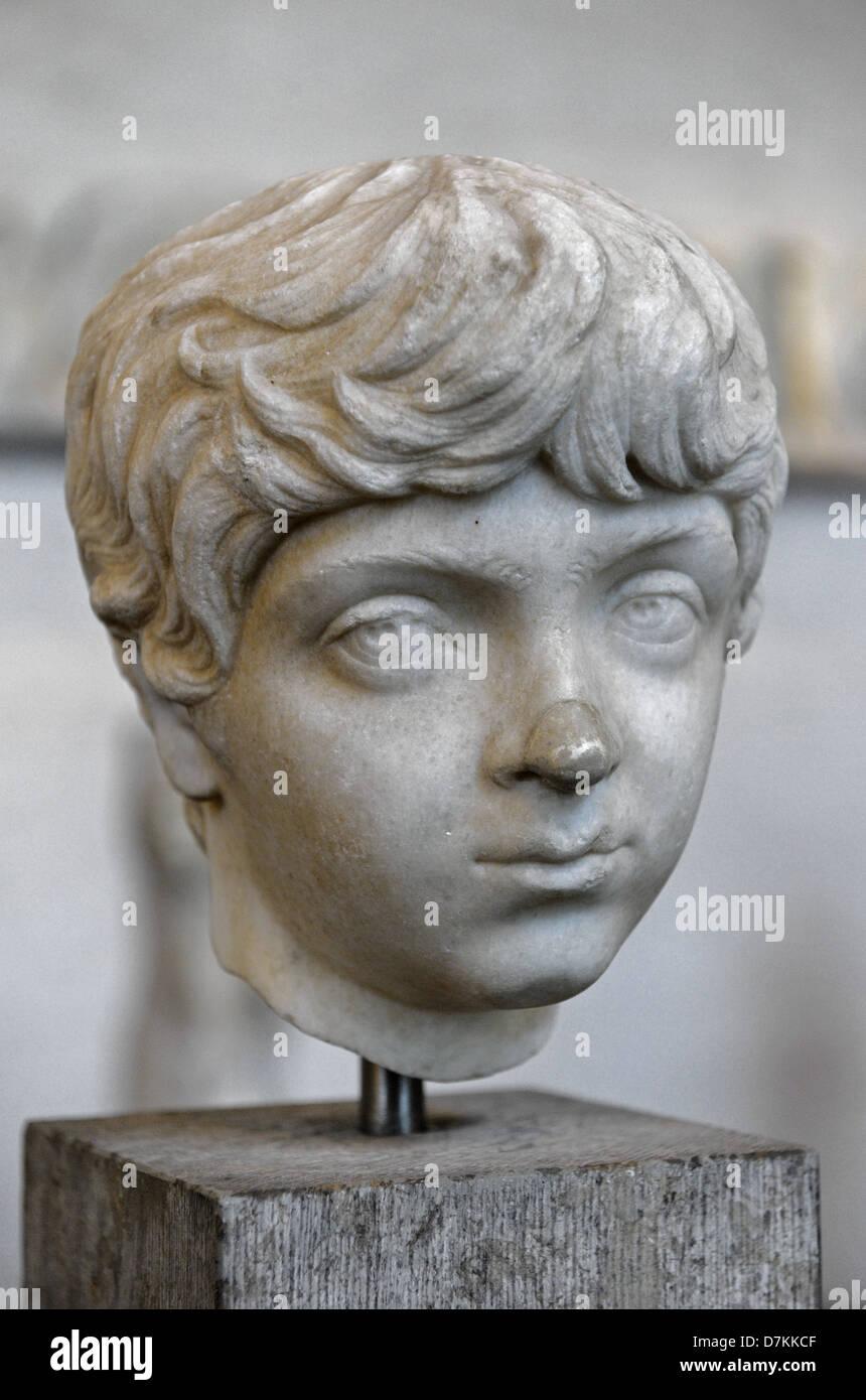 Geta (189 – 211). Roman Emperor. Bust. Glyptothek. Munich. Germany. - Stock Image