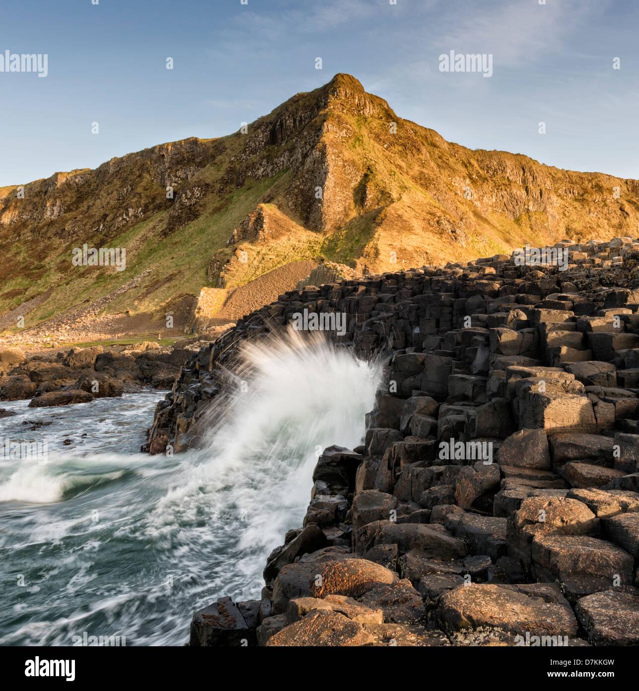 Giant's Causeway on the North Antrim coast of Northern Ireland - Stock Image