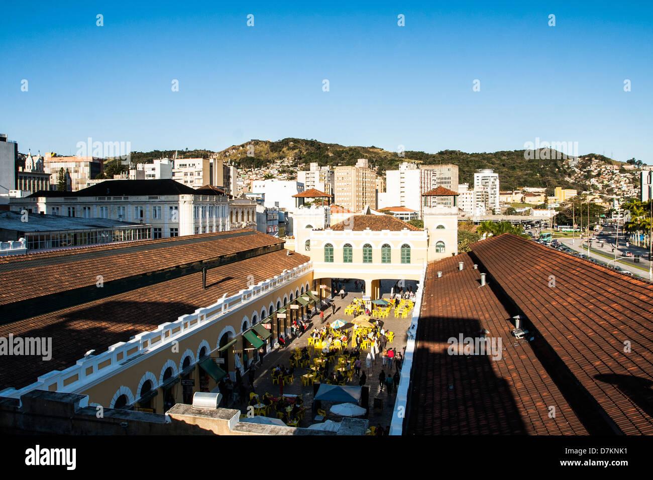 Municipal Public Market of Florianopolis. - Stock Image