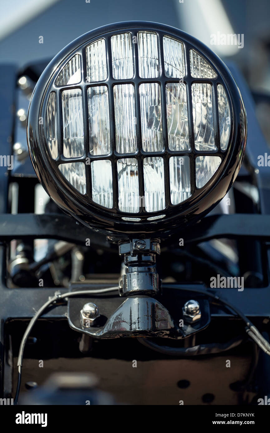 monster bike head lights closeup - Stock Image