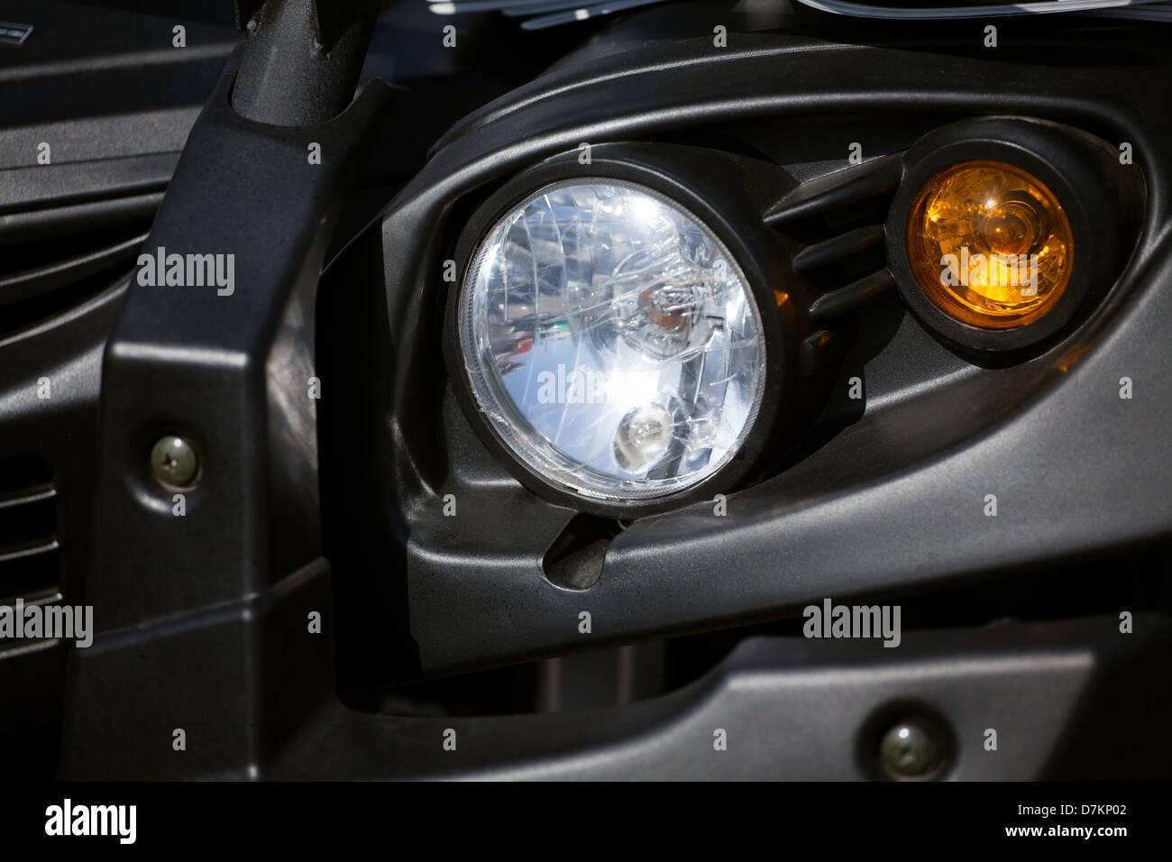 jeep head lights black - Stock Image