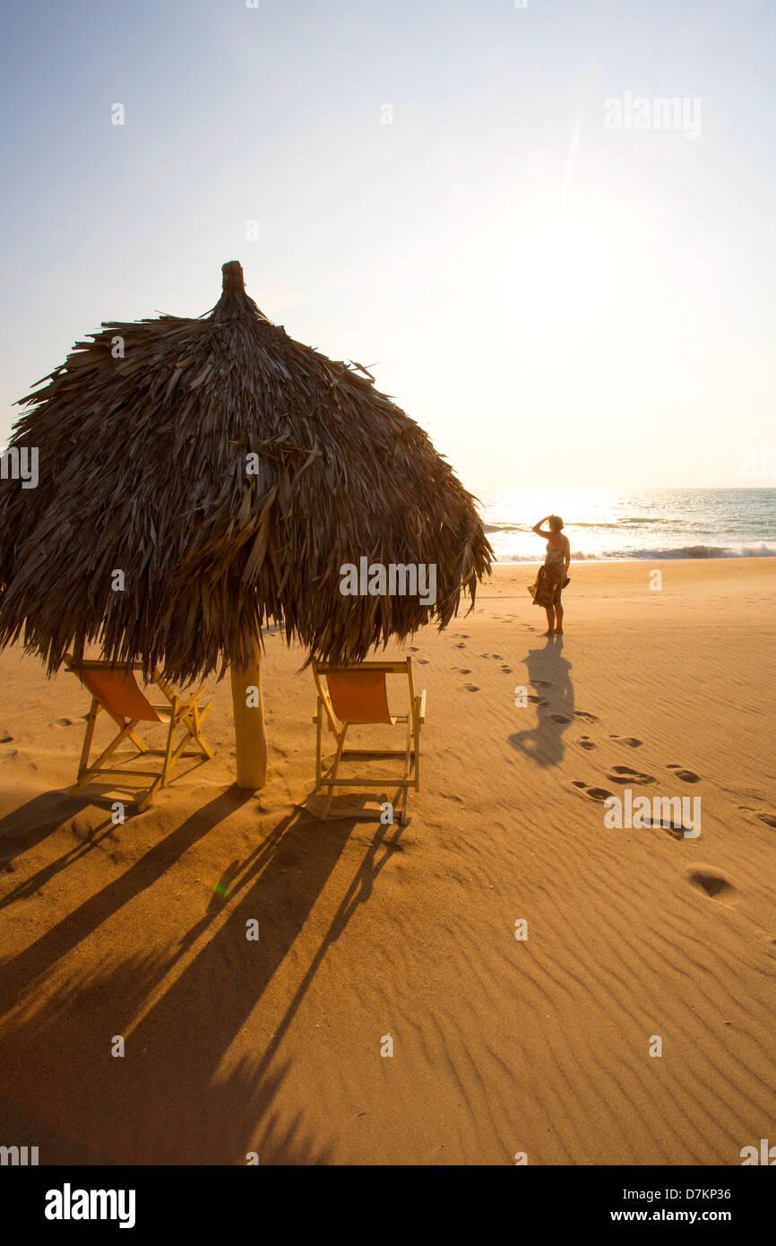Hotelito Desconocido Sanctuary Reserve & Spa, Costalegre, Jalisco, Mexico - Stock Image