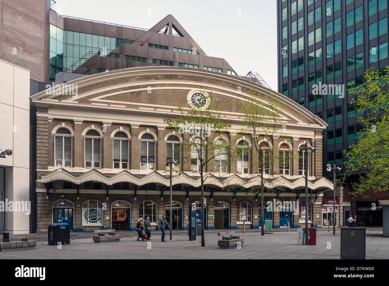 Front of Fenchurch Street Railway Station - Stock Image