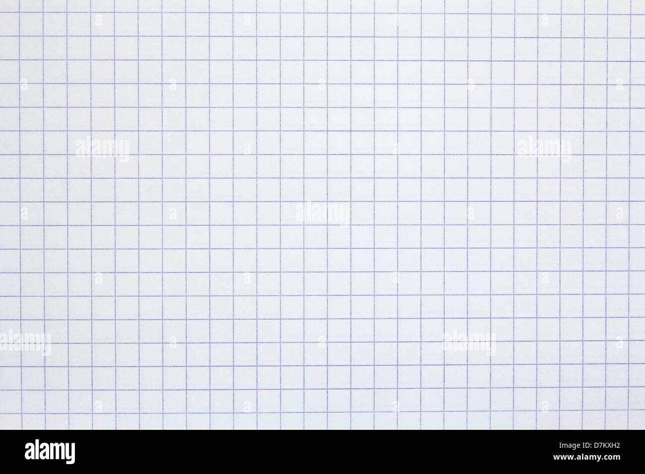 squared sheet of paper - Stock Image