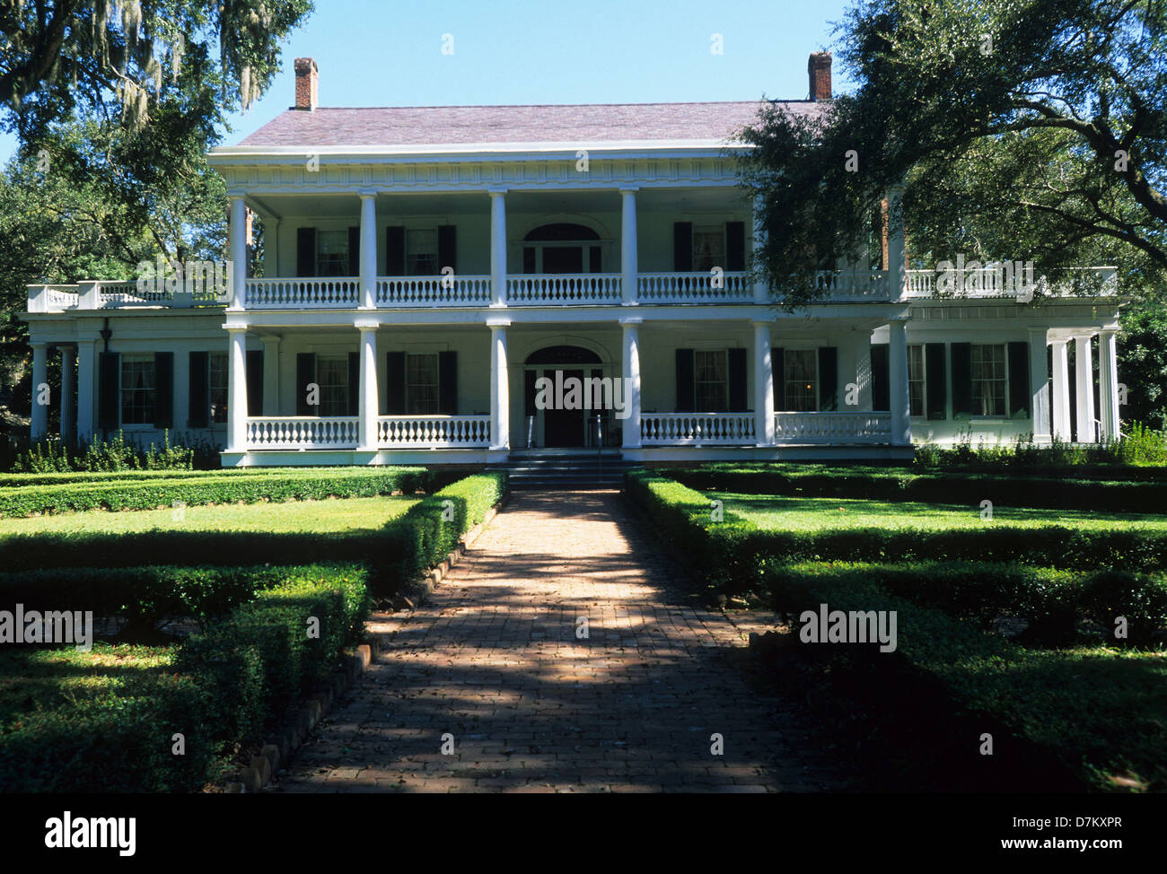 Elk283-2986 Louisiana, St Francisville, Rosedown Plantation State Historic Site, Mansion, 1836 - Stock Image