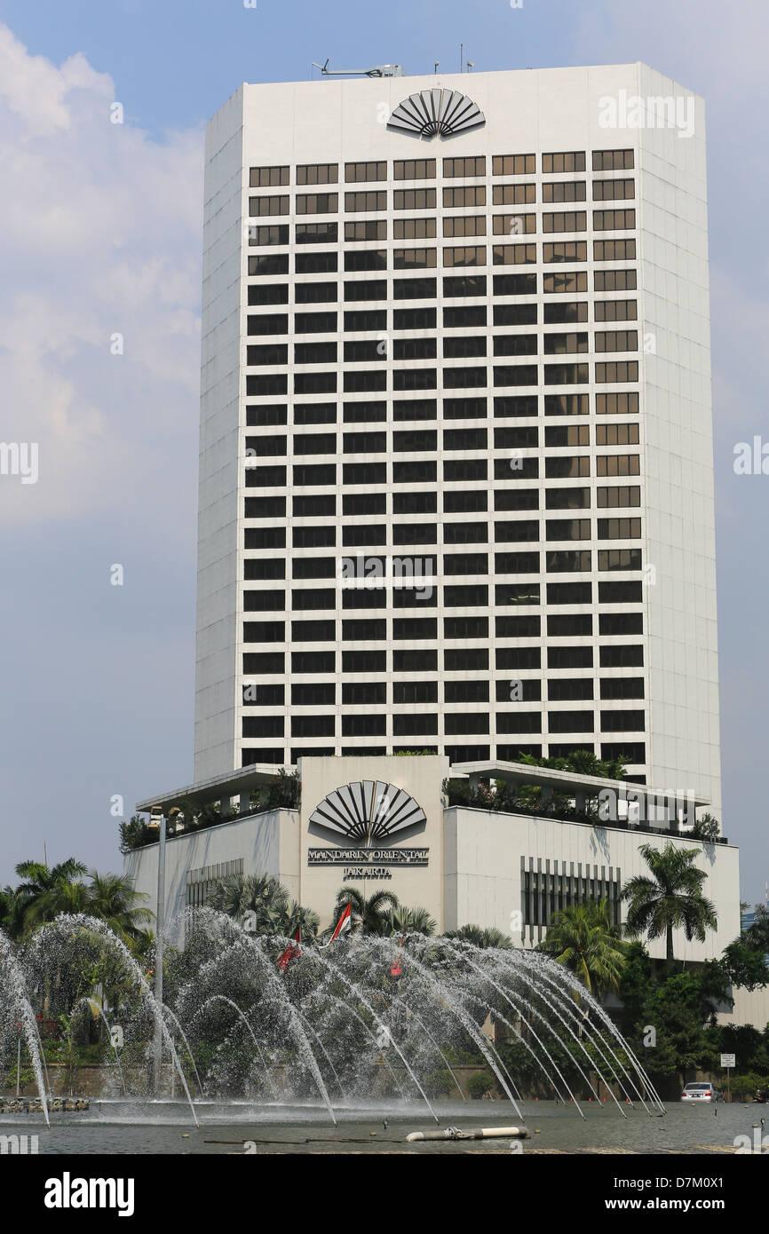 Mandarin Oriental Hotel On Jalan Thamrin Plaza Indonesia Jakarta Stock Photo Alamy