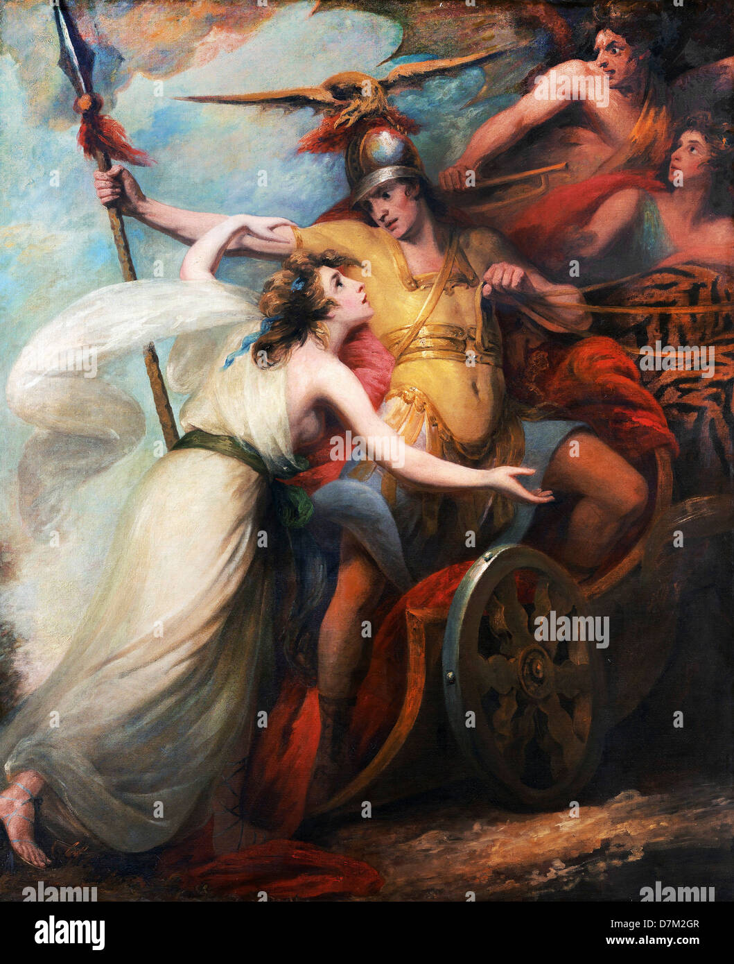 William Artaud, 'The Triumph of Mercy,' from Collins' 'Ode To Mercy' 1788-1790 Oil on canvas. Stock Photo