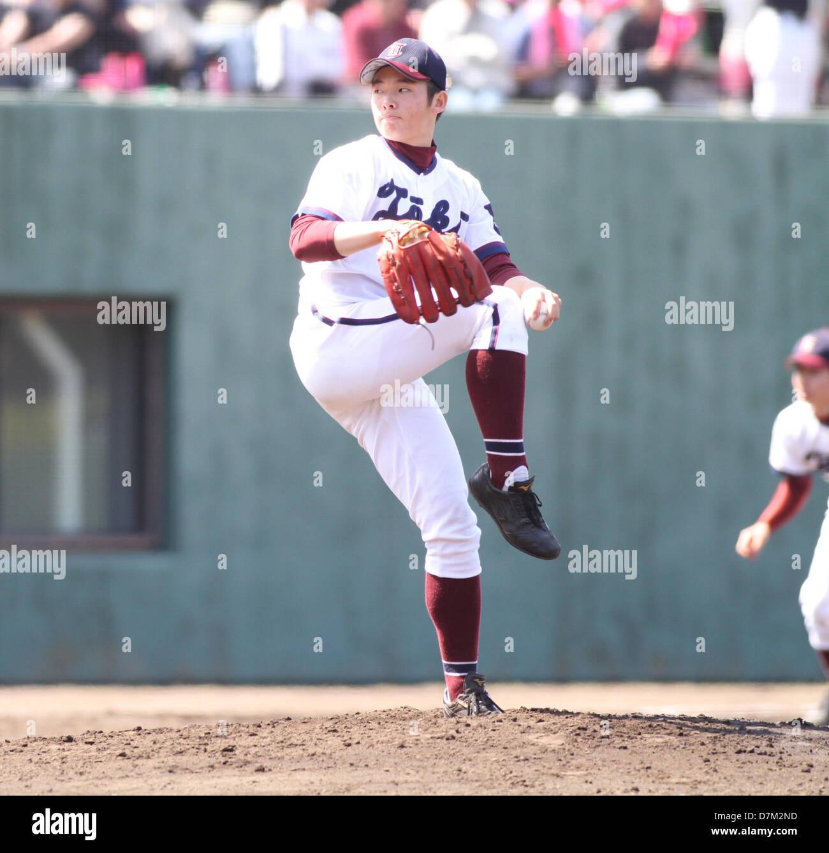 Yuki Matsui (Toko Gakuen), MAY 3, 2013 - Beseball : Yuki Matsui of Toko Gakuen pitches during the Kanagawa Prefecture - Stock Image