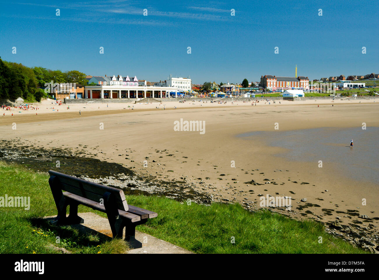 beach whitemore bay barry island vale of glamorgan south wales Stock Photo