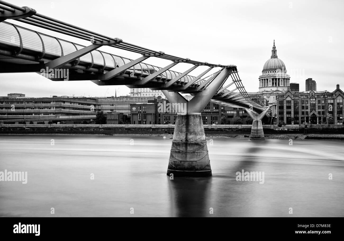 The Millennium Bridge, London, UK - Stock Image