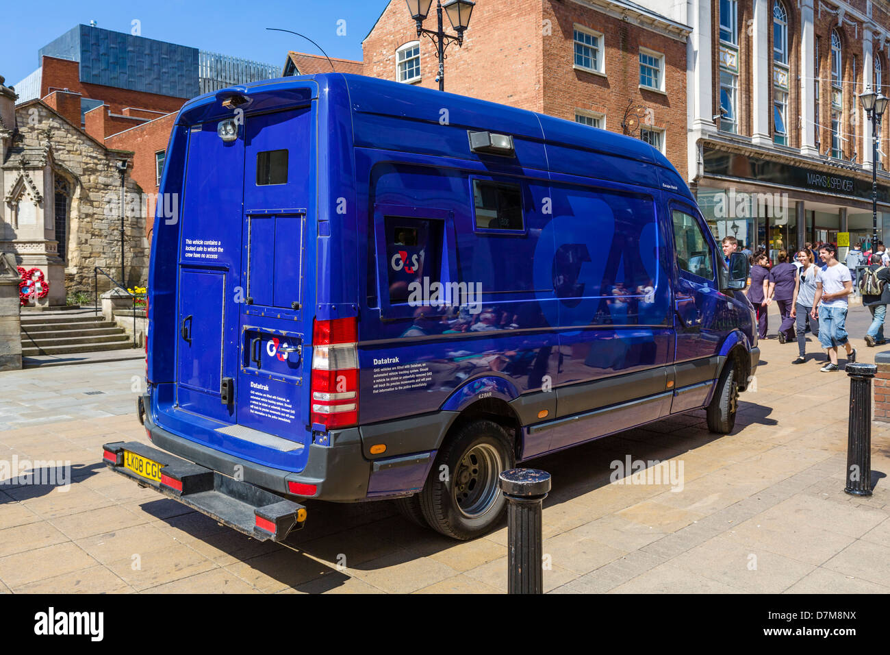 A G4S security van in the town centre, Lincoln, East Midlands, England, UK - Stock Image