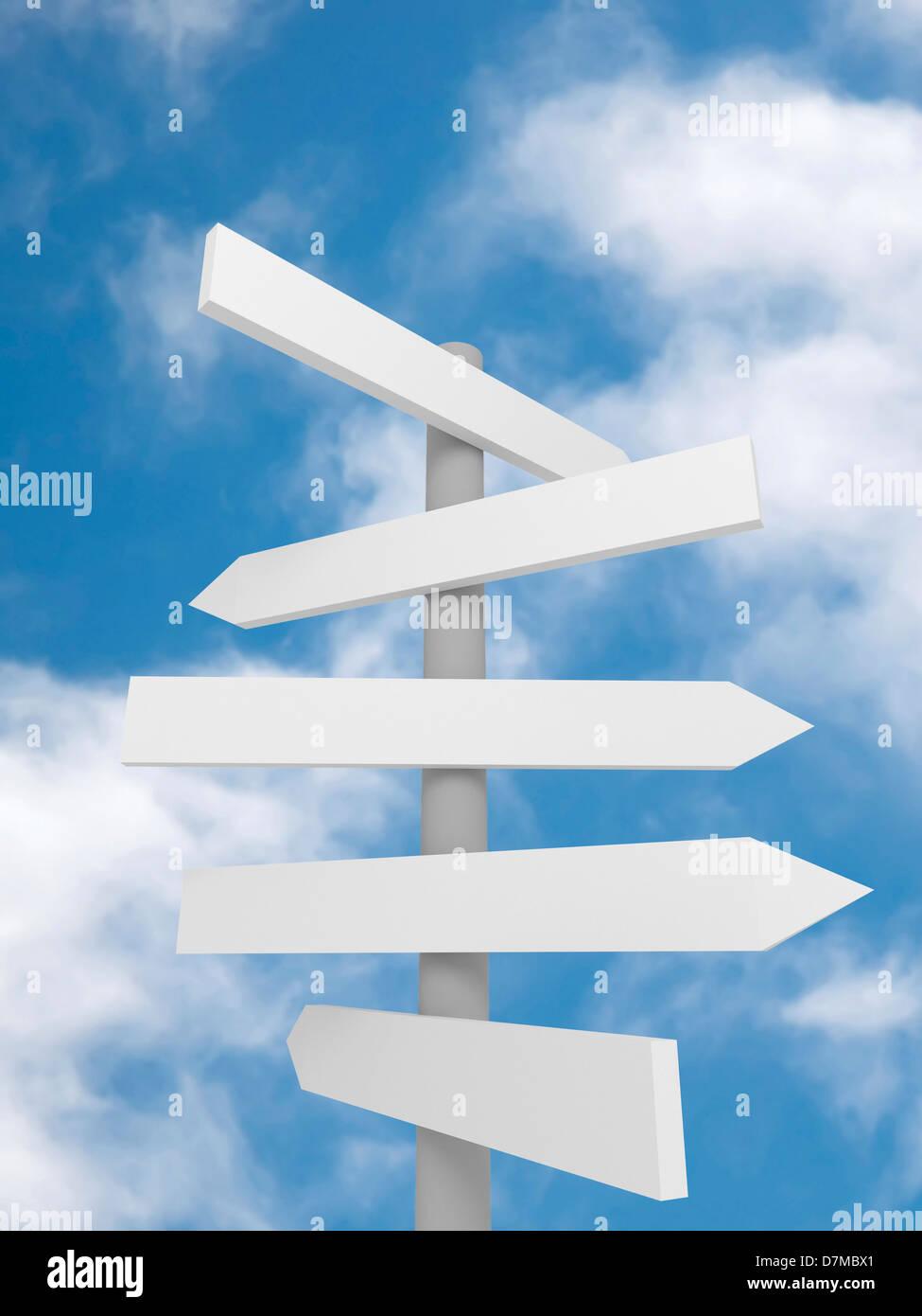 Signpost, artwork - Stock Image