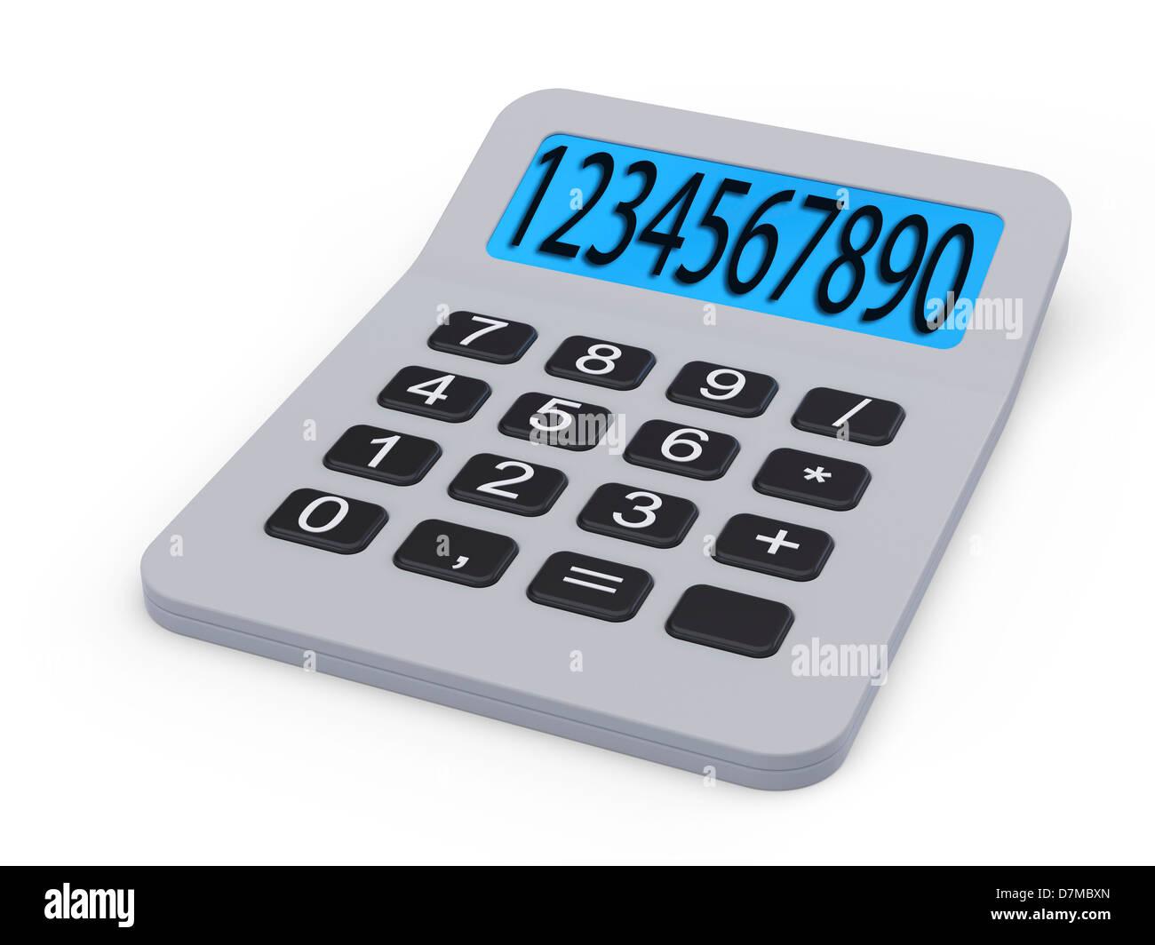 Calculator, artwork - Stock Image