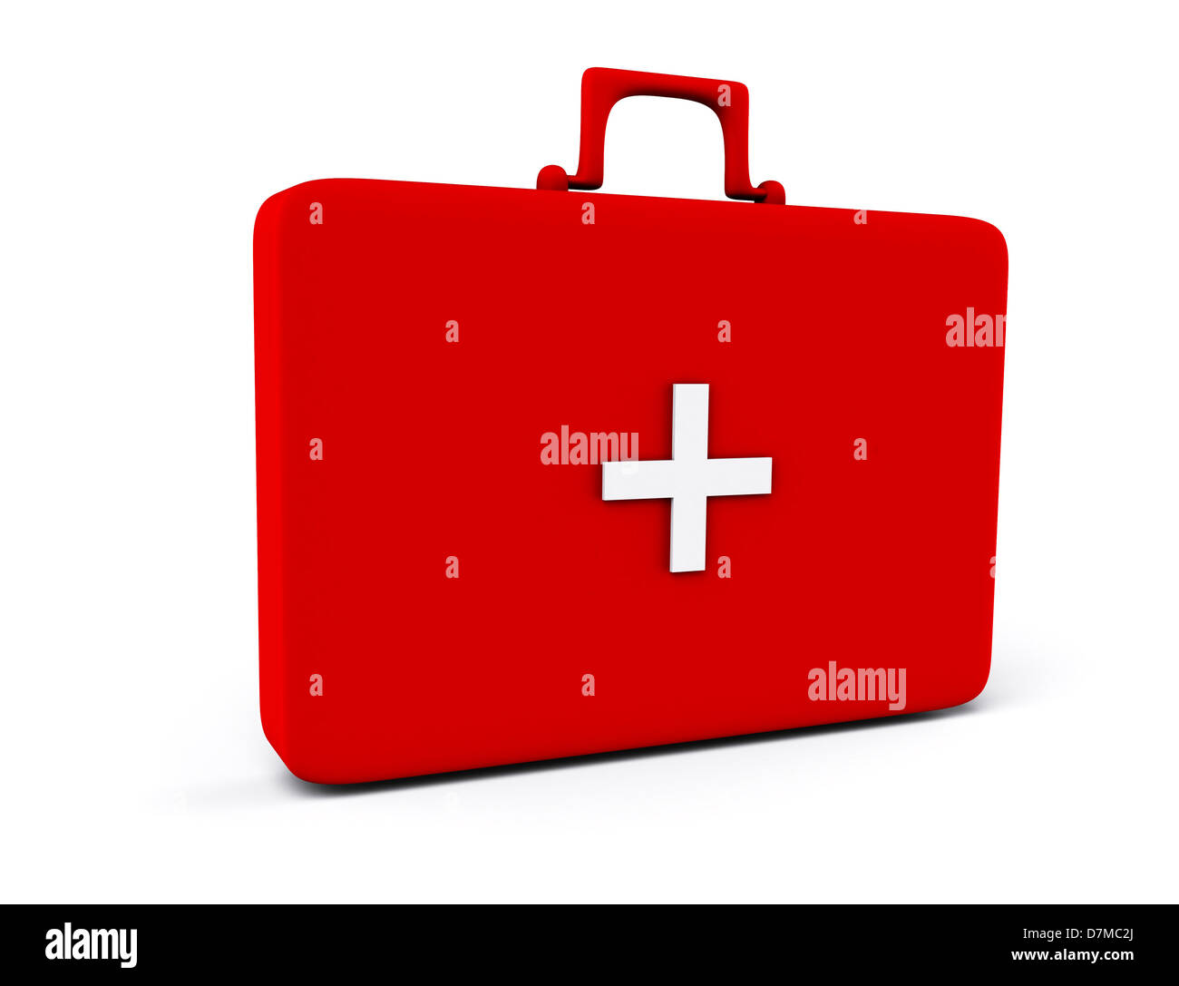 First aid box, artwork - Stock Image