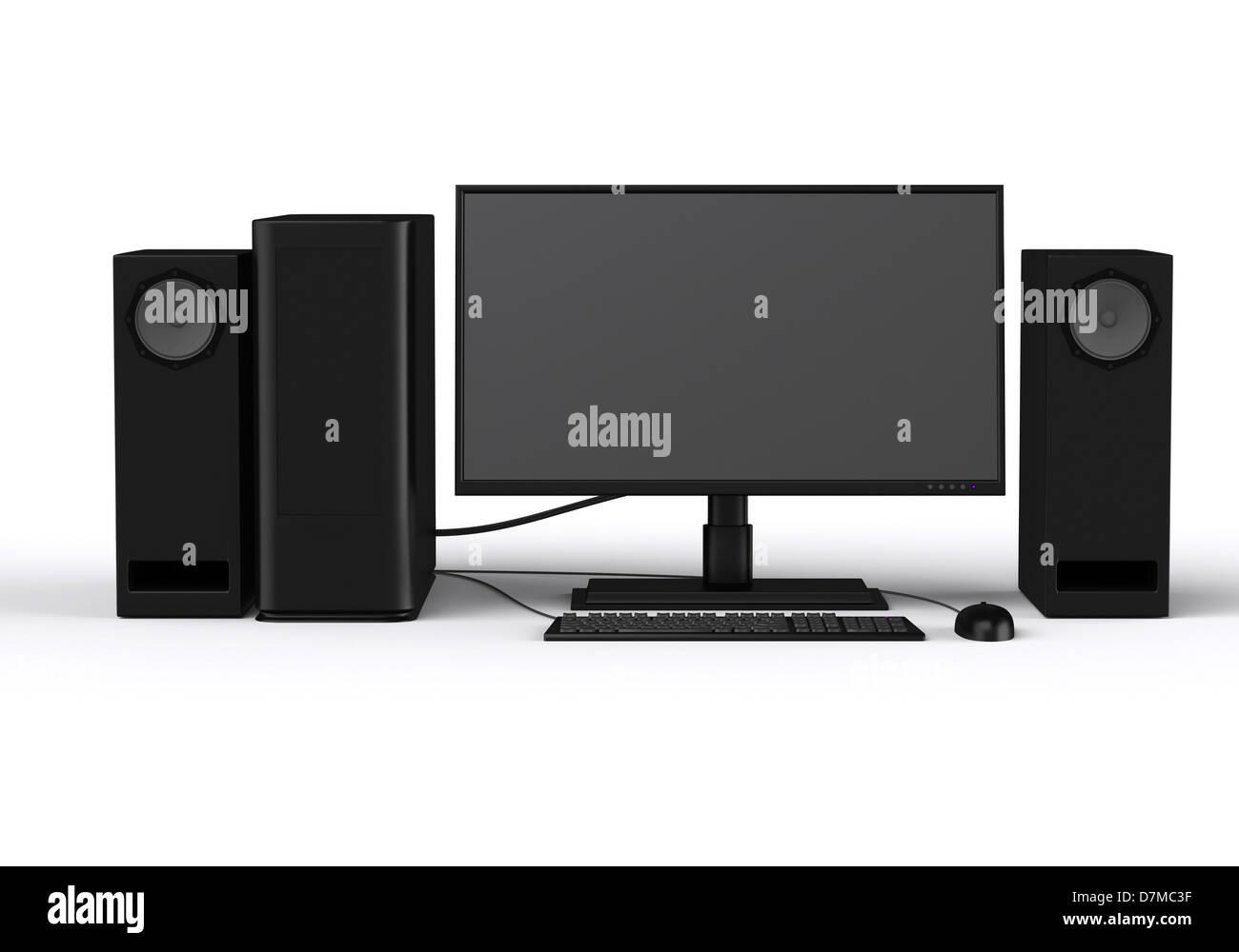 Personal computer, artwork - Stock Image