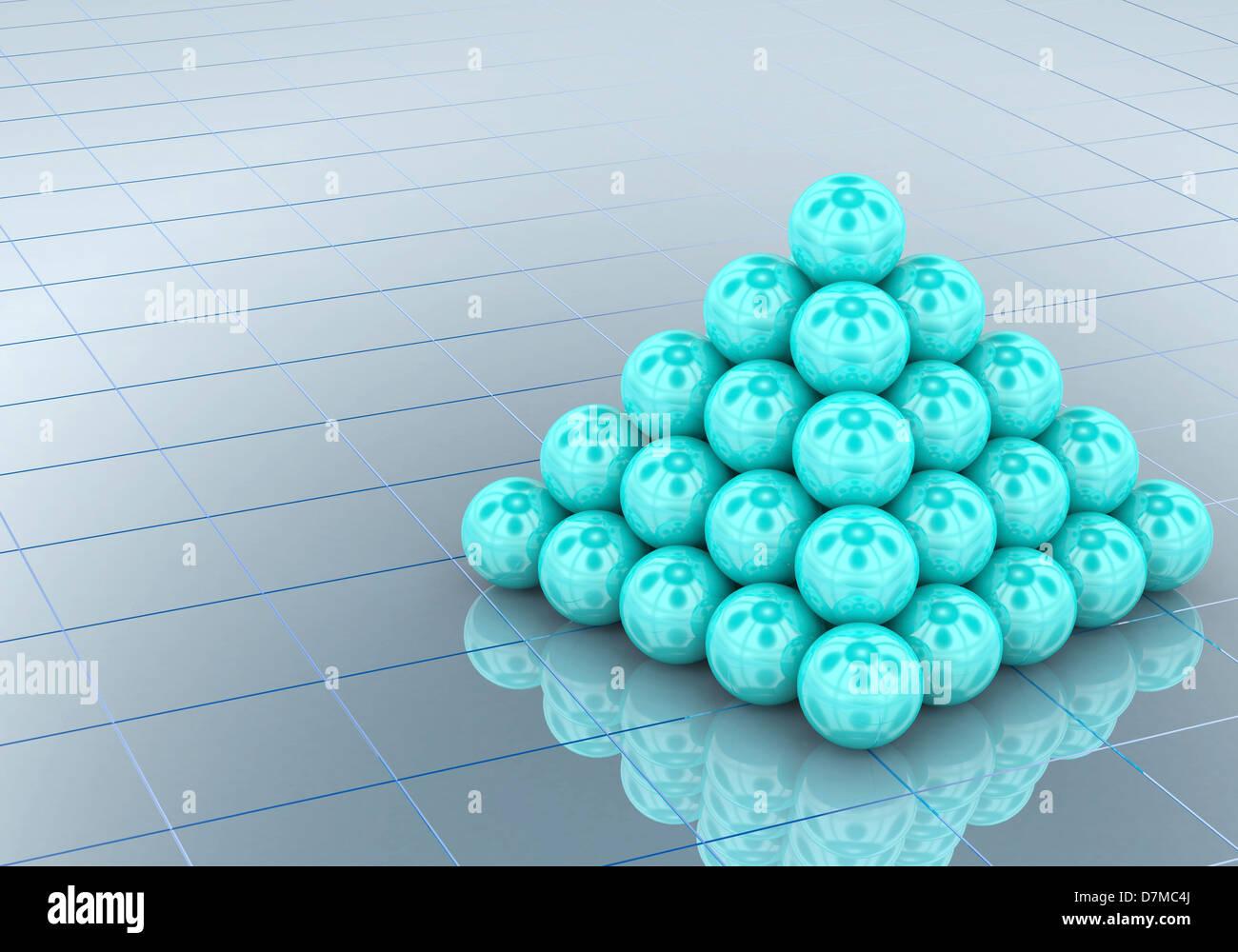 Pyramid, artwork - Stock Image