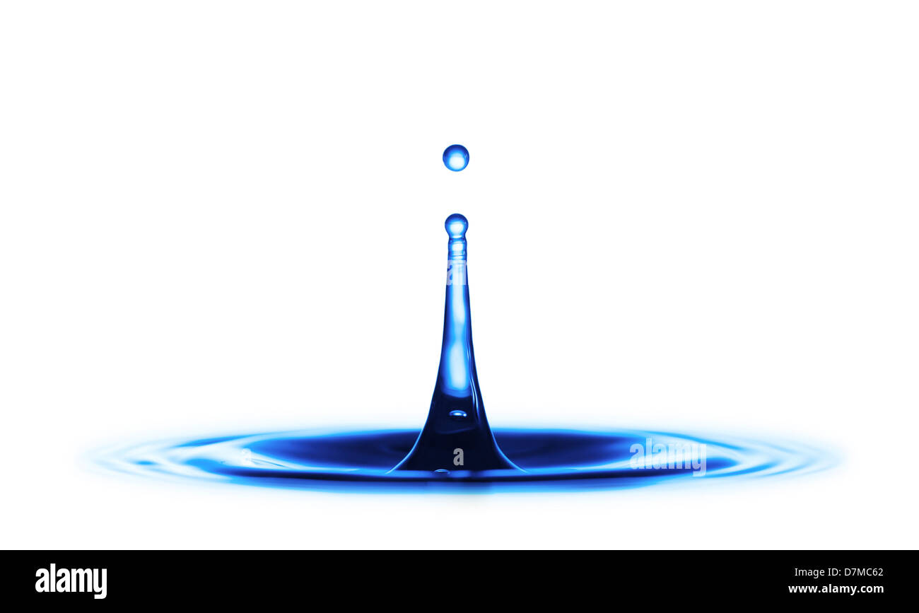 Water drop impact - Stock Image