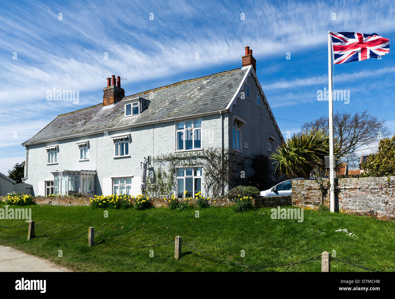 Houses in Orford in Suffolk. - Stock Image