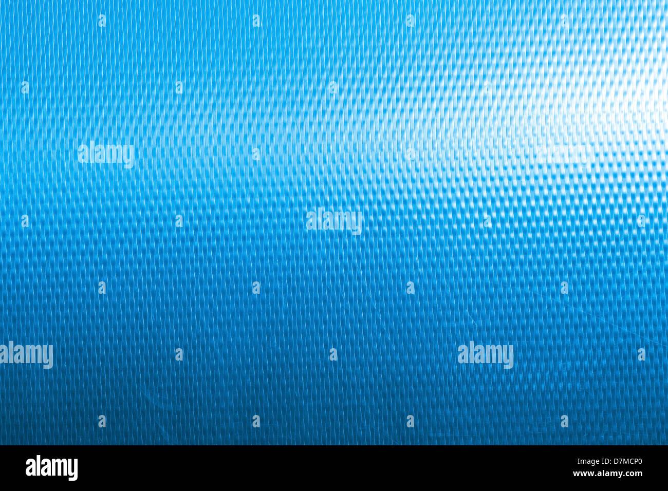 Blue metal panel - Stock Image