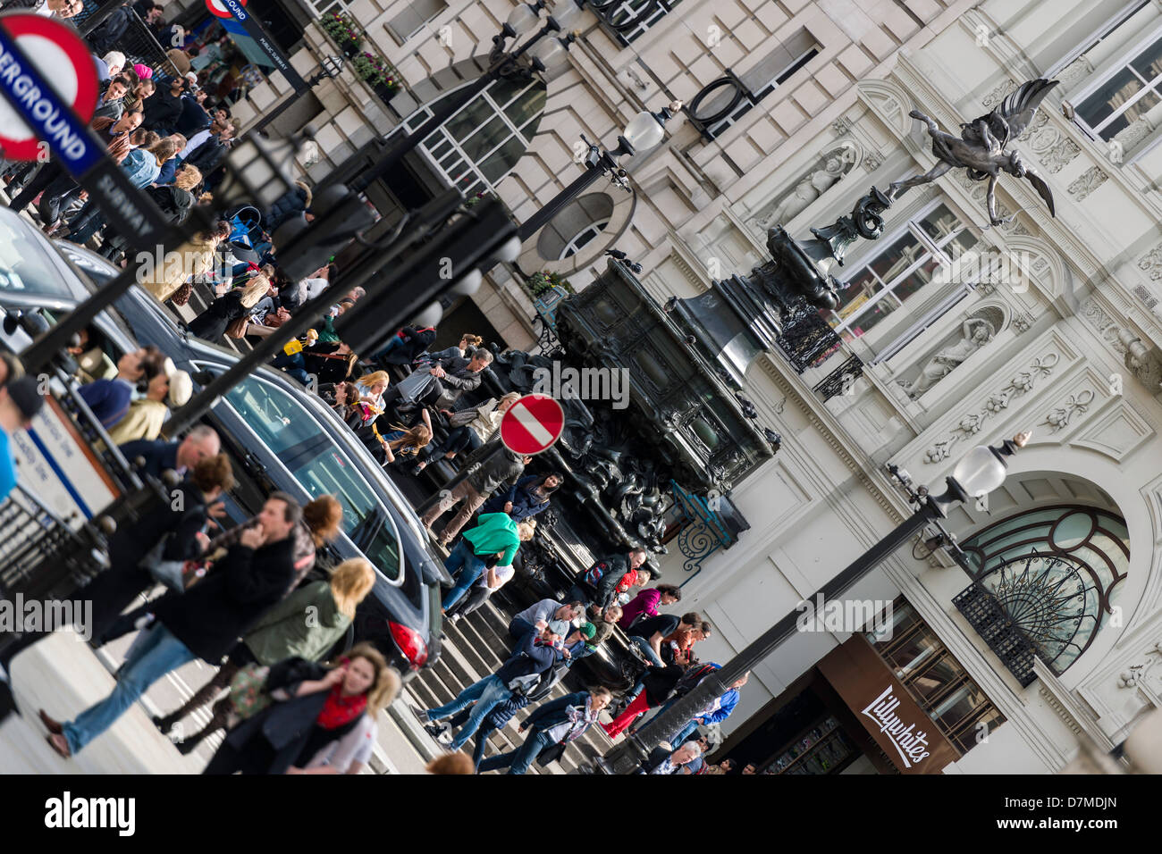 Piccadilly Circus, London - England - Stock Image