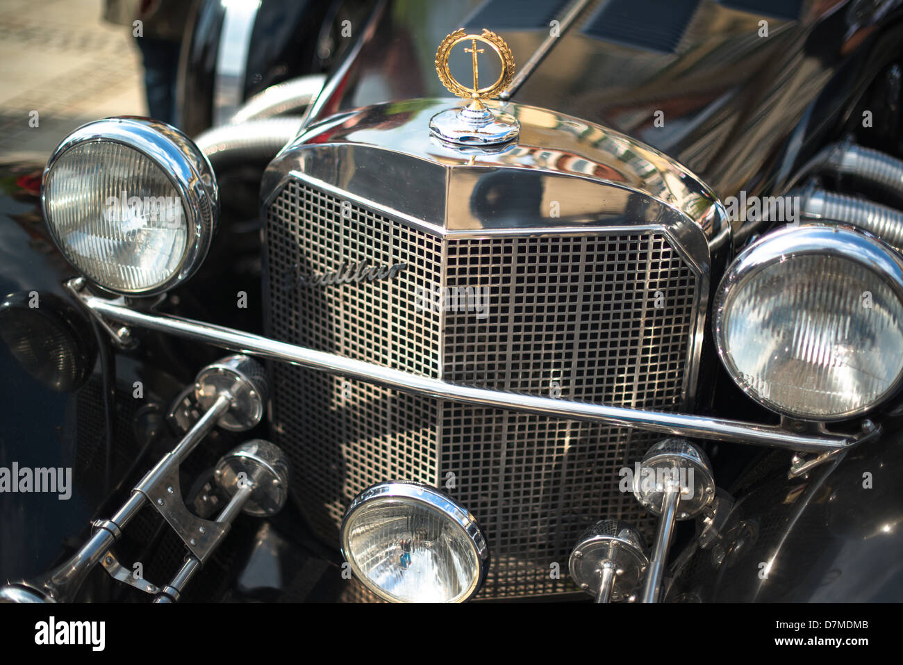 An Excalibur classic car is presented during the eMotionen show on the market square on May 5, 2013 in Ludwigsburg, - Stock Image