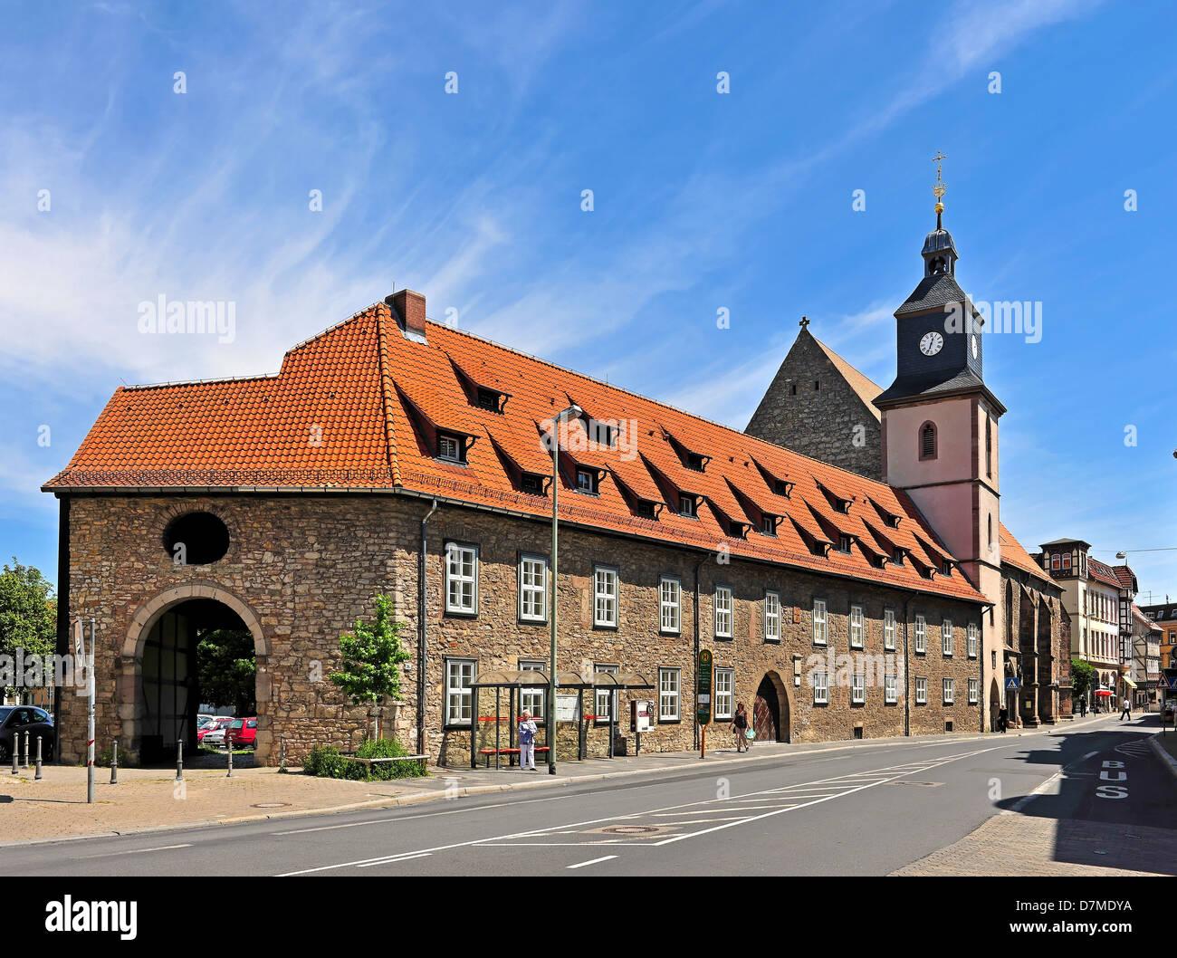 The Protestant Lutheran church St. Marien in Göttingen - Stock Image