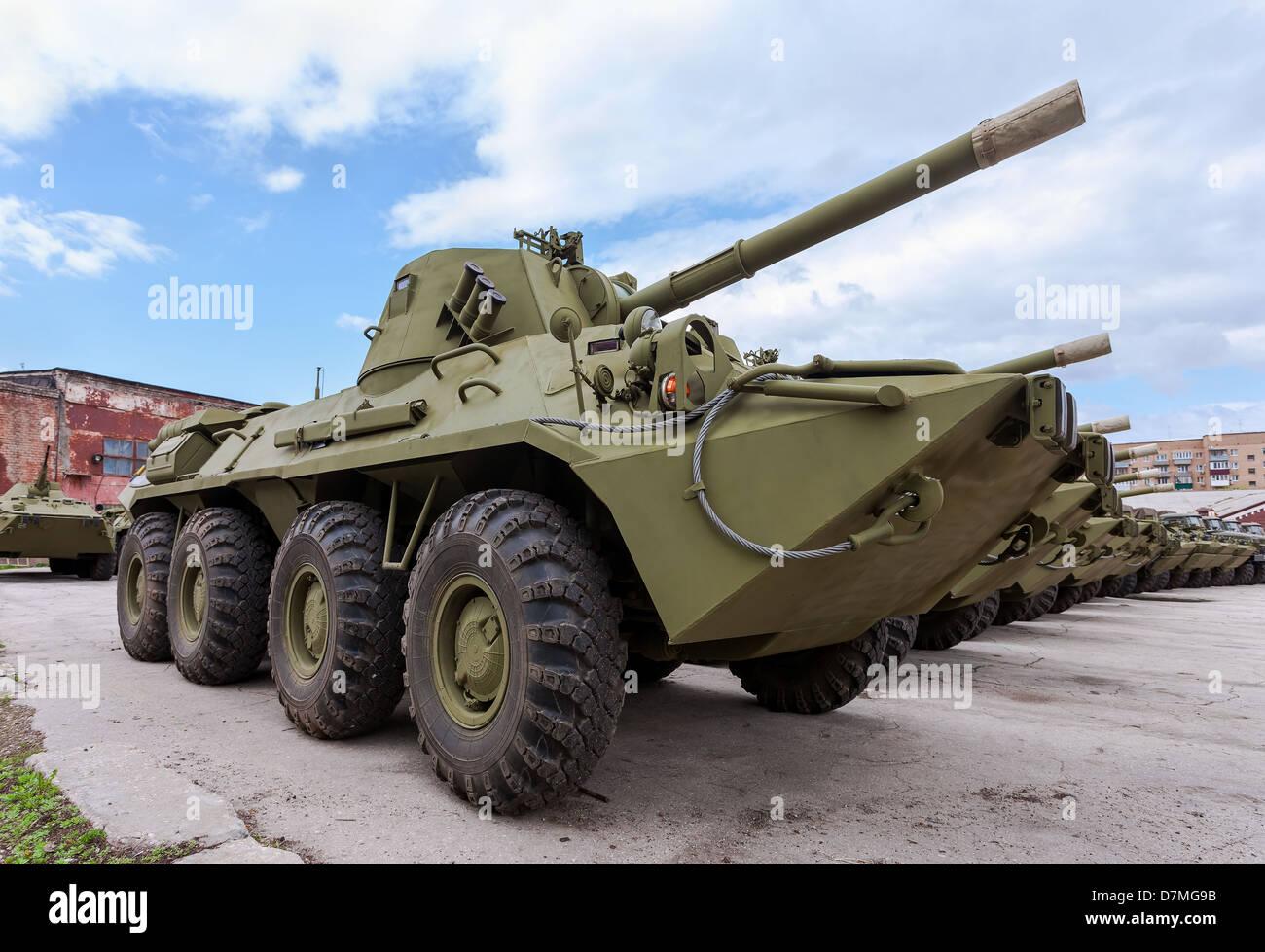 Self-propelled gun NONA-SVK - Stock Image