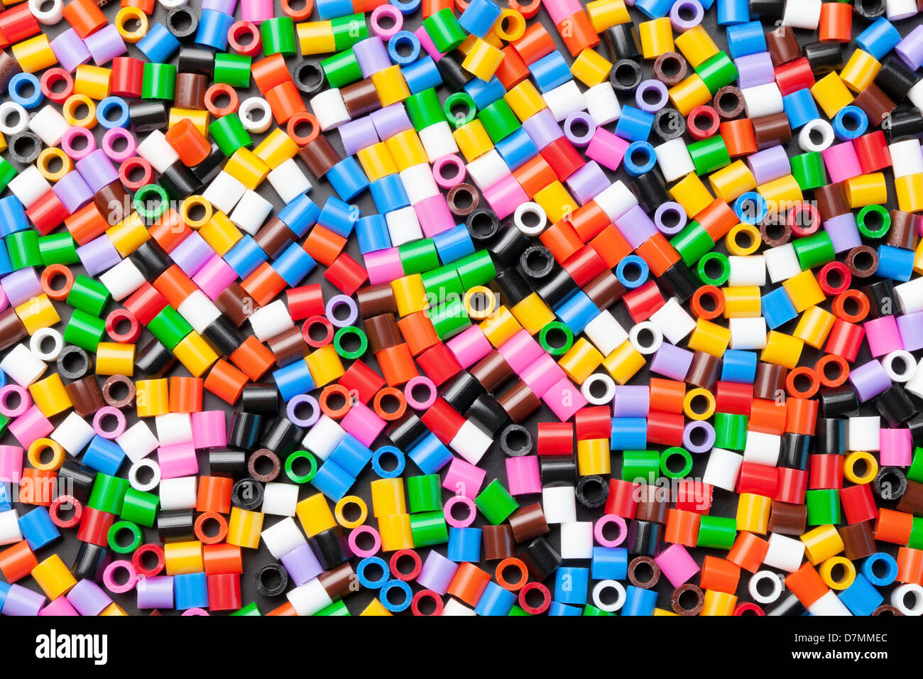 Plastic cylinders - Stock Image