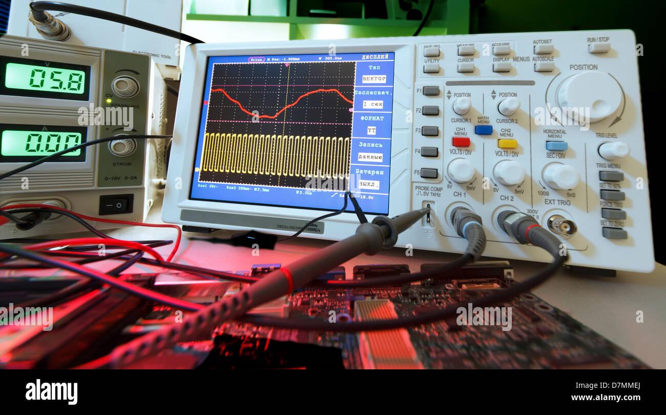 Oscilloscope Stock Photo 56388826 Alamy Control Pannel