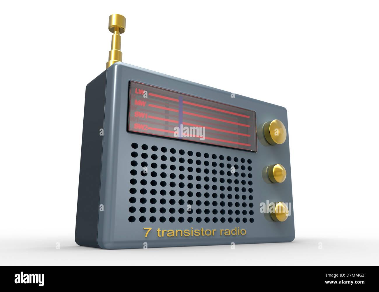 Radio, artwork - Stock Image