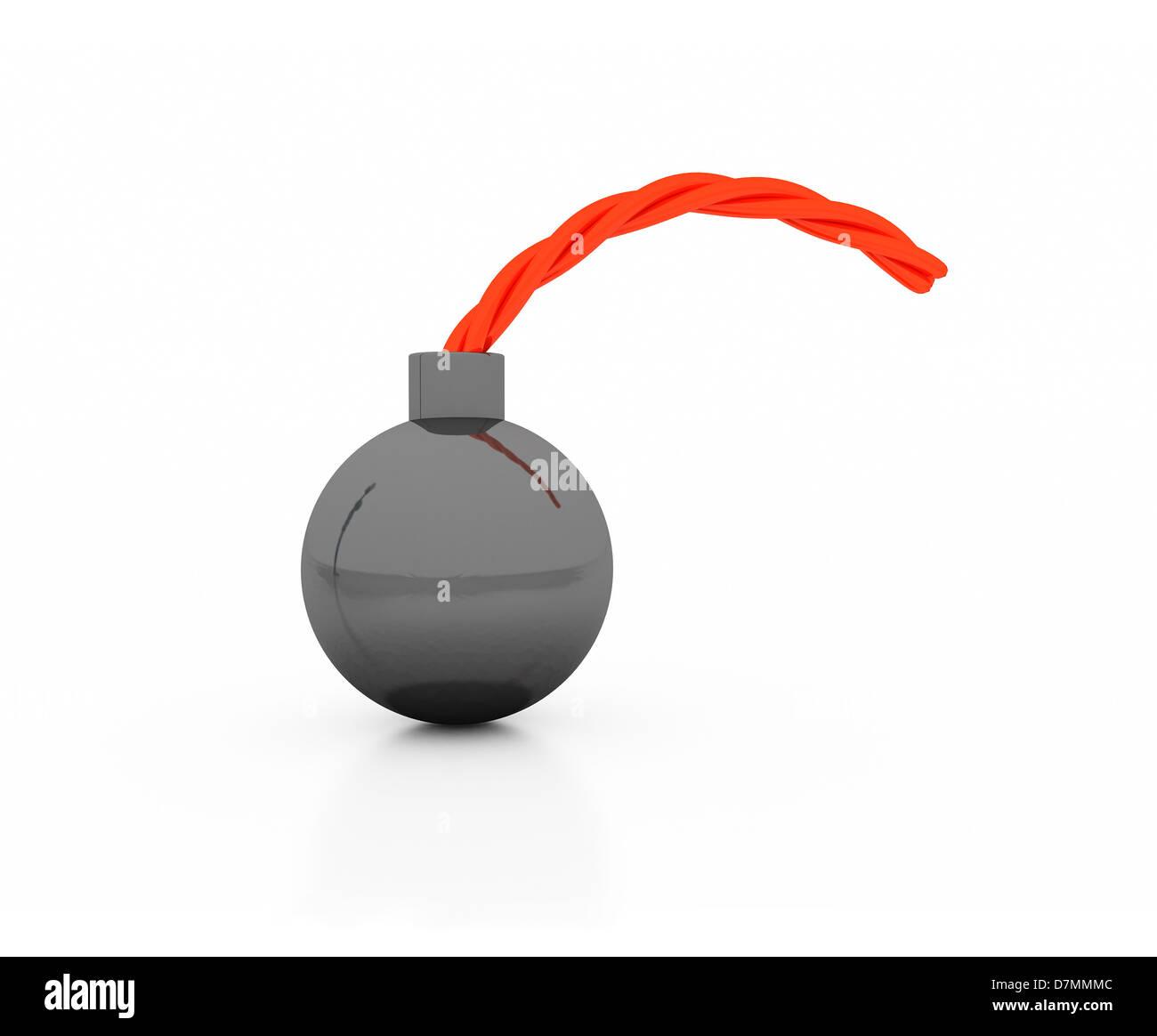 Bomb, artwork - Stock Image