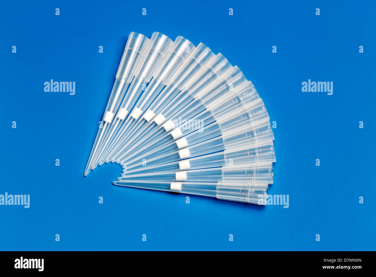 Pipette tips - Stock Image