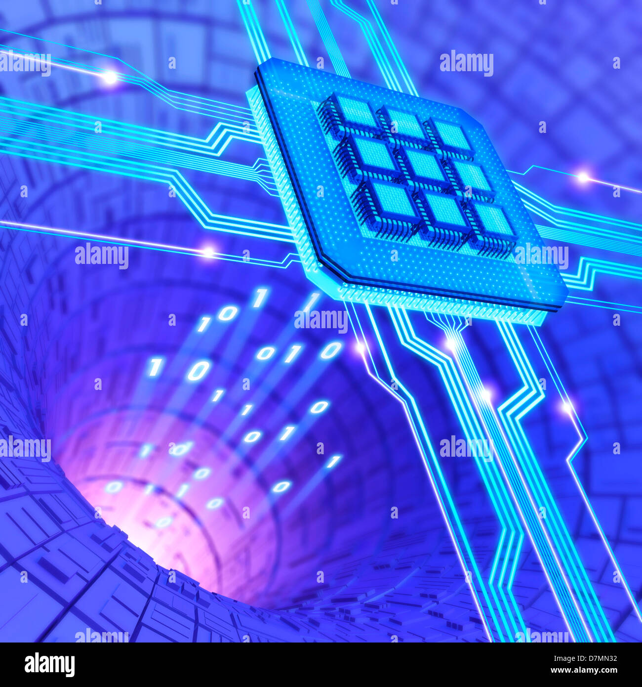 Futuristic computing technology, artwork - Stock Image