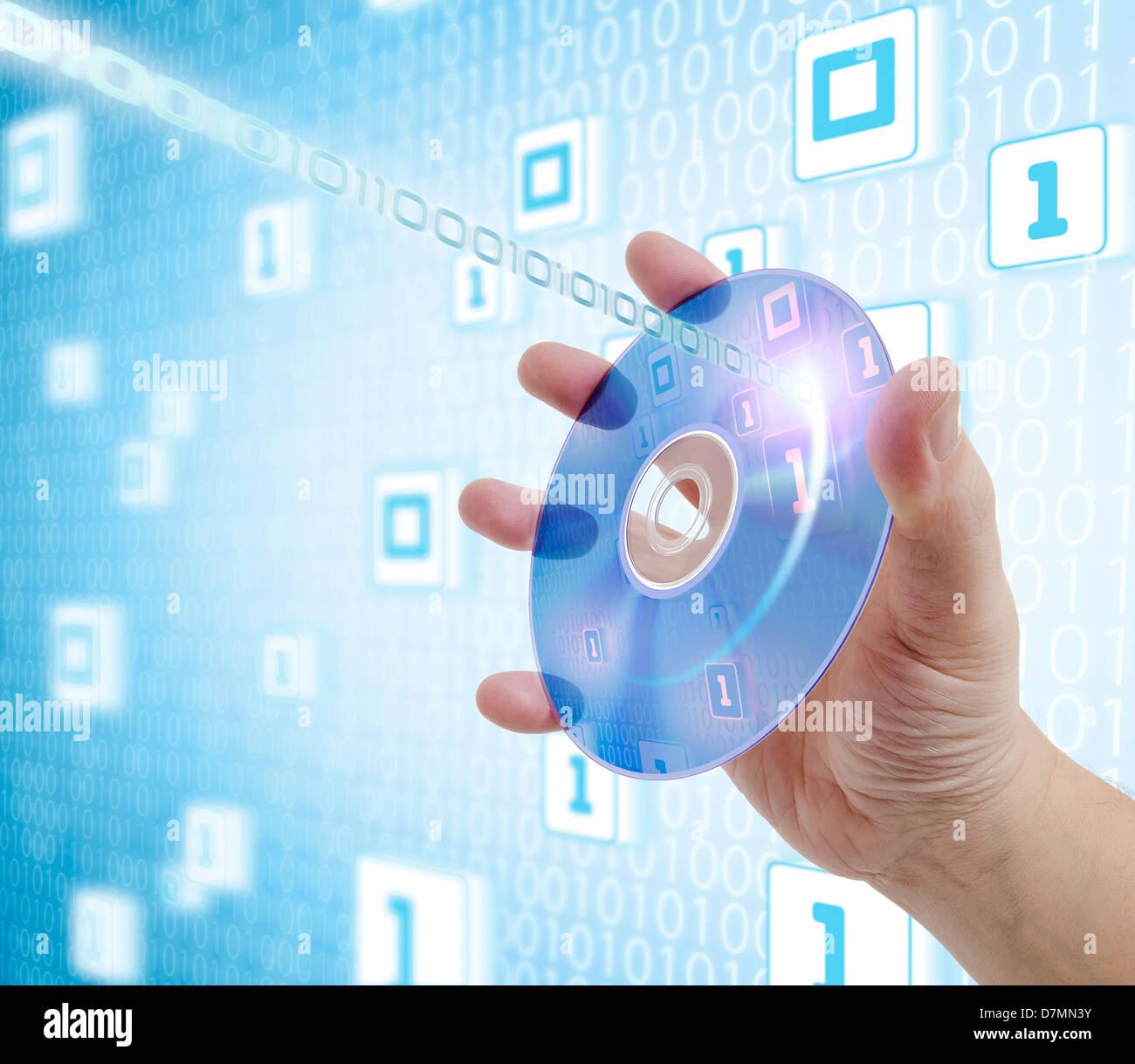 Digital storage, artwork - Stock Image