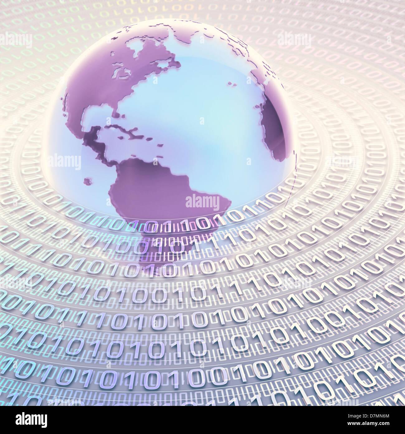 Digital world, conceptual artwork - Stock Image
