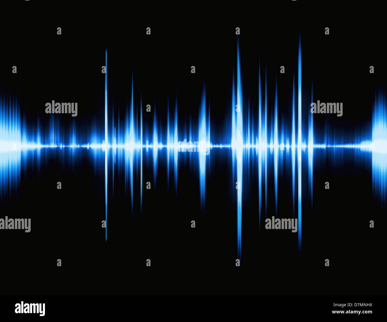 Sound waves, artwork - Stock Image