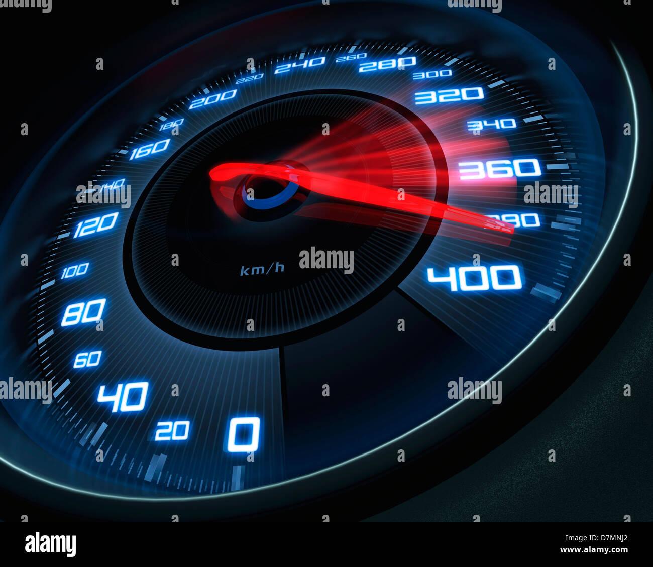 Speedometer, artwork - Stock Image