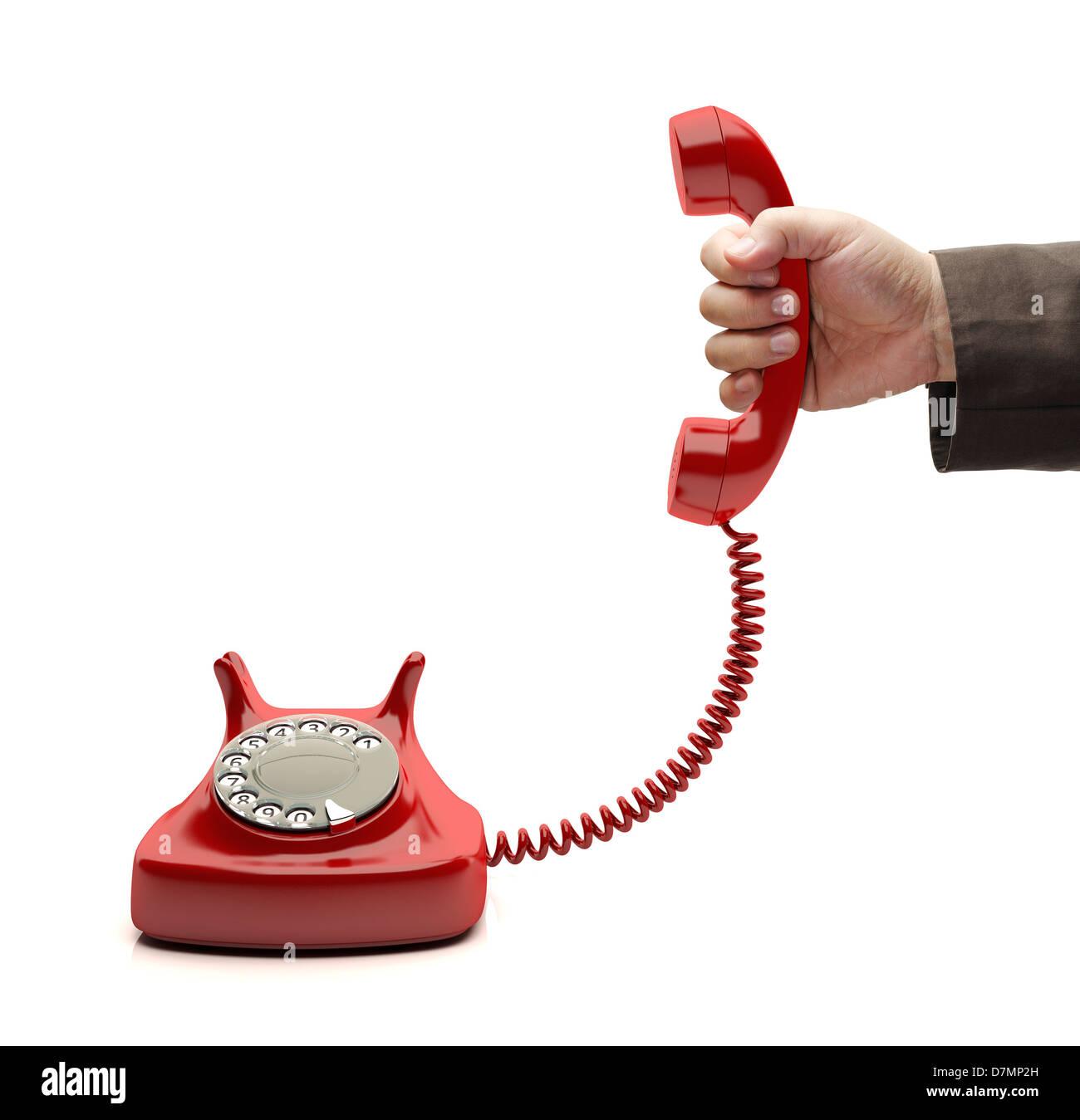 Telephone call - Stock Image