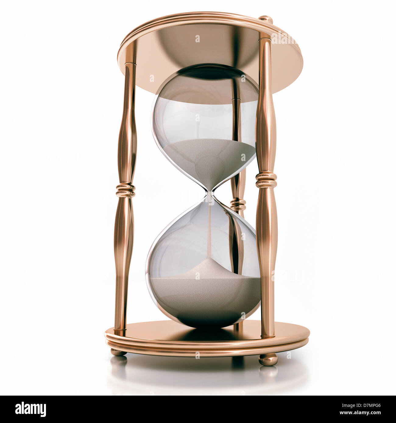 Hourglass, artwork - Stock Image