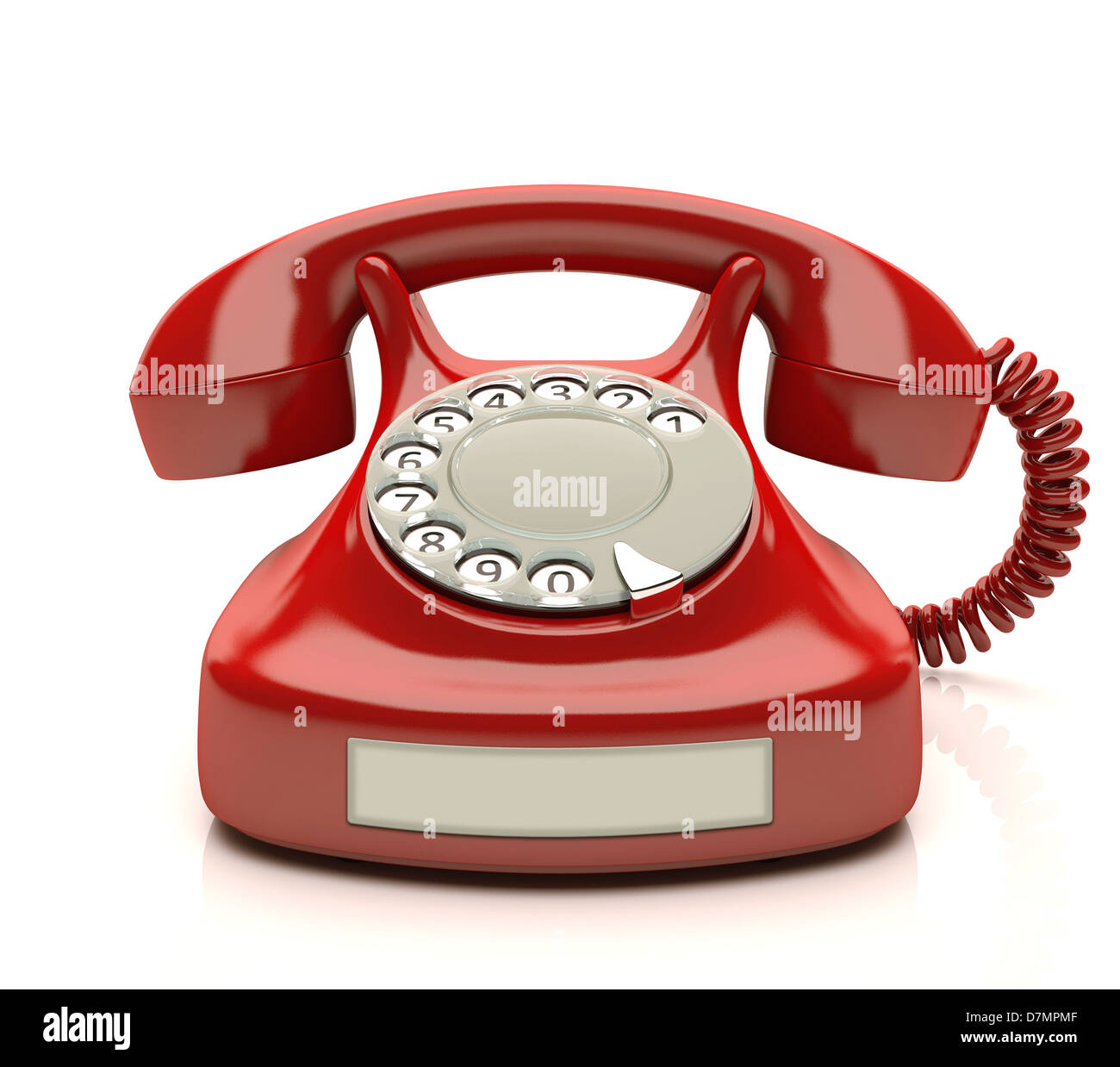 Telephone, artwork - Stock Image
