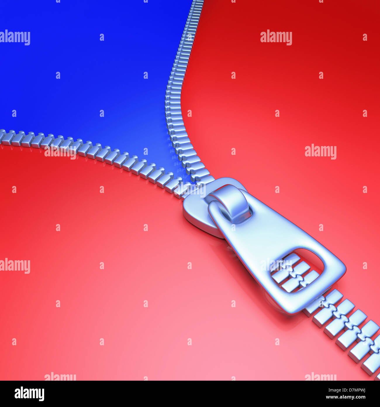 Zip, artwork - Stock Image