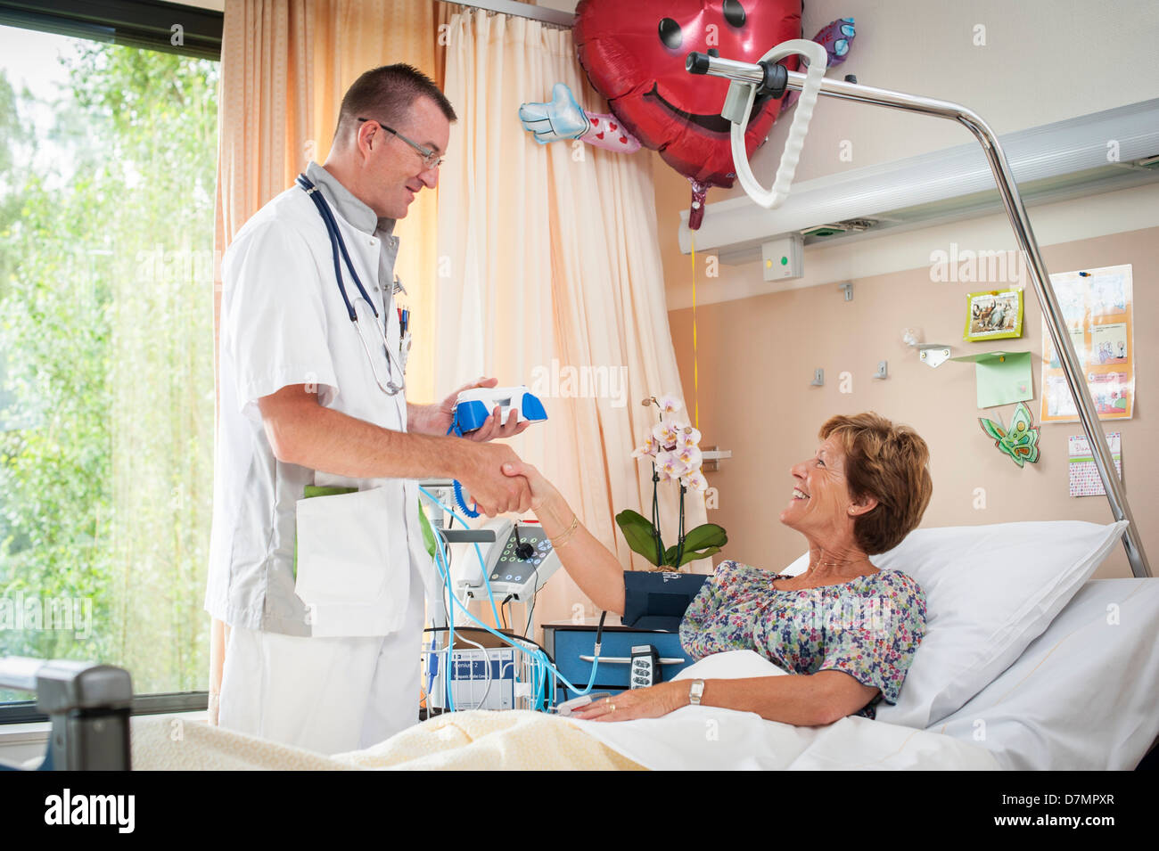 Blood pressure measurement - Stock Image