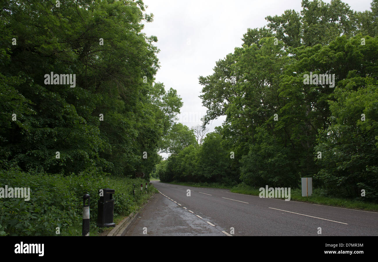Route of HS2 Railway London to Birmingham Proposed site of viaduct parallel to North Orbital Road Denham Buckinghamshire - Stock Image